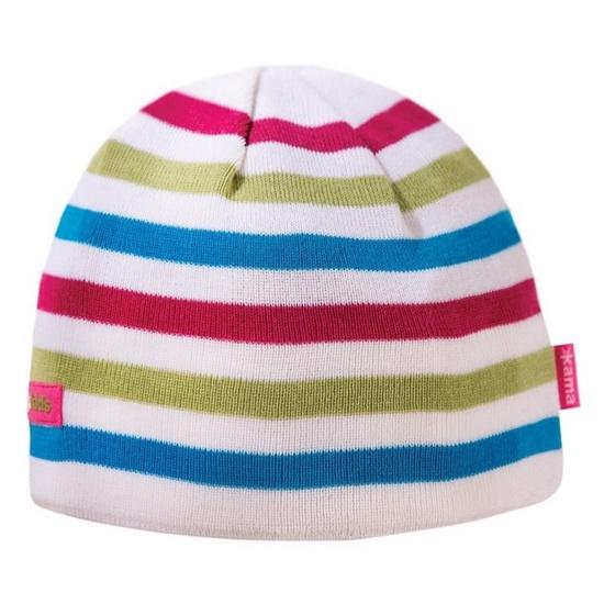 Dětská pletená čepice Kama B70 100 bílá