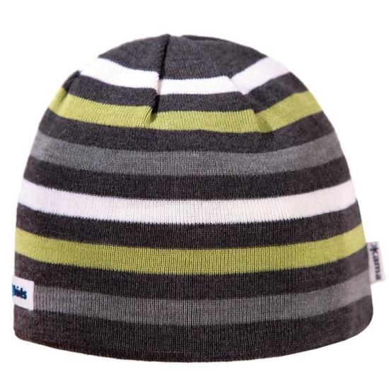 Dětská pletená čepice Kama B70 111 tmavě šedá