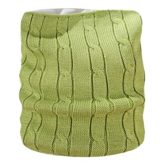 Pletený nákrčník Kama S15 105 zelená