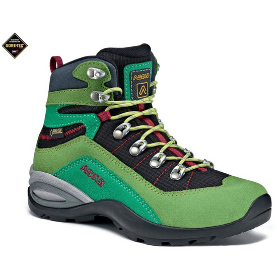 Dětské boty Asolo Enforce GV JR lime/black/A168