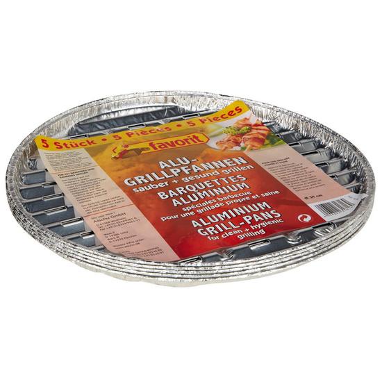 Grilovací miska Favorit kruhová 34cm, 5 ks