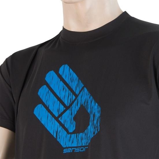 Pánské triko Sensor COOLMAX FRESH PT HAND černé 17100014