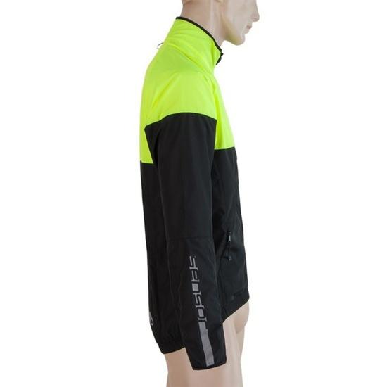 Pánská bunda Sensor NEON černá/žlutá reflex 17100115