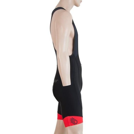 Pánské cyklo kalhoty Sensor CYKLO RACE černá/červená 17100077