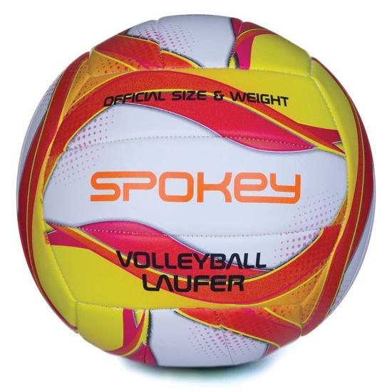 Volejbalový míč Spokey LAUFER bílo-červeno-žlutý