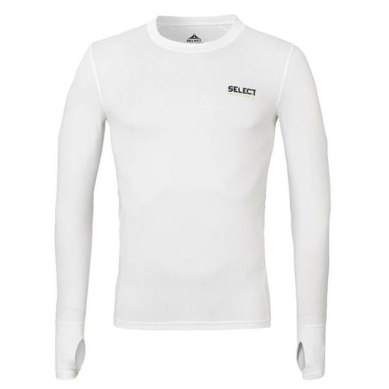 Kompresní triko Select Compression T-shirt L/S 6902 bílá