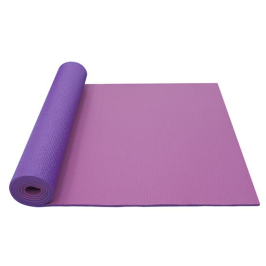 Podložka na jogu YATE yoga mat dvouvrstvá/růžová/fialová