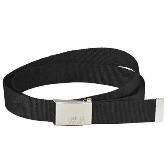 Pásek JACK WOLFSKIN Webbing Belt Wide černý