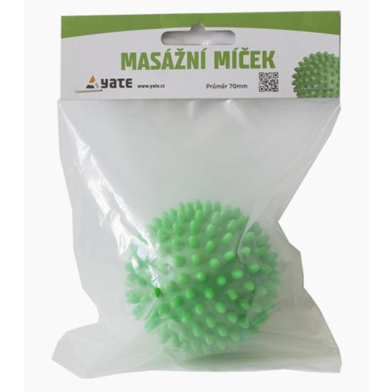 Masážní míček Yate 70 mm zelený