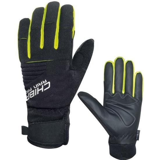 Zimní rukavice Chiba Rain Touch, černá-reflexní žlutá 3120018.1003