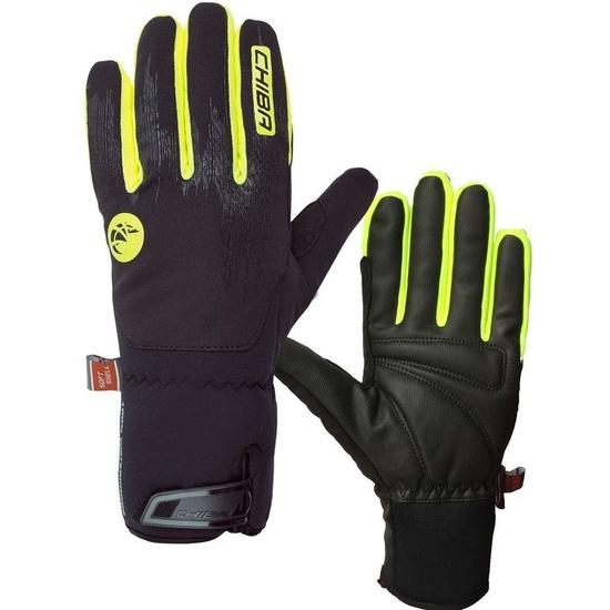 Zimní rukavice Chiba Dry Star Superlight, černá-reflexní žlutá