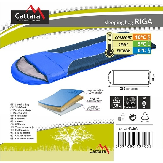 Spací pytel dekový Cattara RIGA 0°C