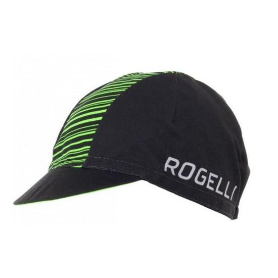Sportovní kšiltovka Rogelli RITMO, černo-zelená 009.950