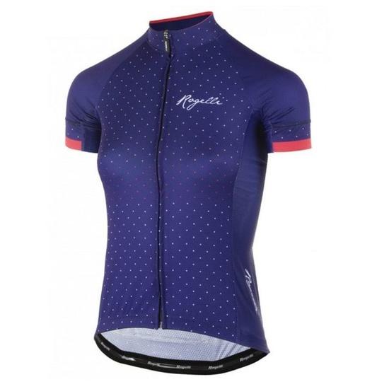 Dámský cyklistický dres Rogelli PRIDE s krátkým rukávem a střihem na tělo, modro-růžové 010.171.
