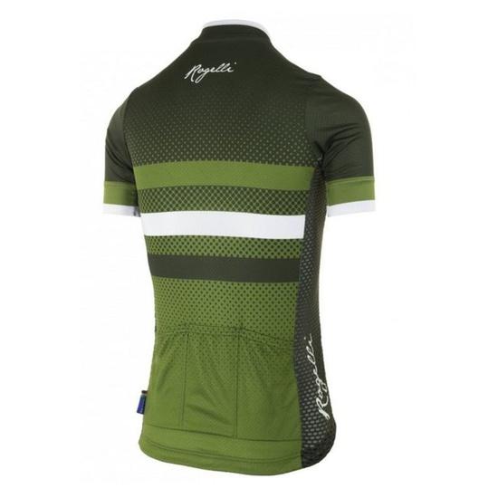 Nejprodyšnější dámský cyklodres Rogelli DOT- s krátkým rukávem, zelený 010.179.