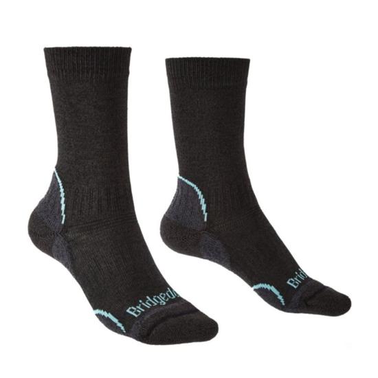 Ponožky Bridgedale Hike Lightweight Coolmax Performance Boot Women's graphite/mint/168