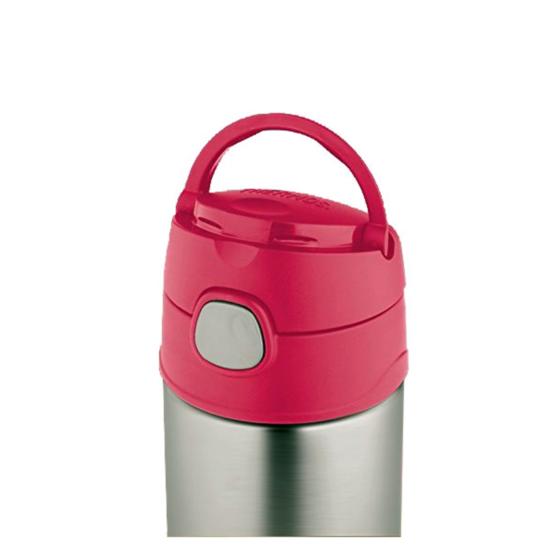 Dětská termoska s brčkem Thermos Funtainer růžová 470ml 120023