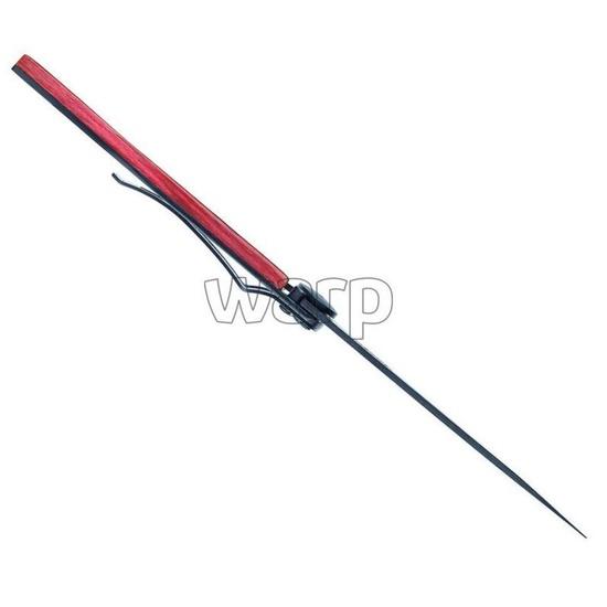 Kapesní nůž Deejo 1GB142 Black tattoo 37g, red beech, Lion