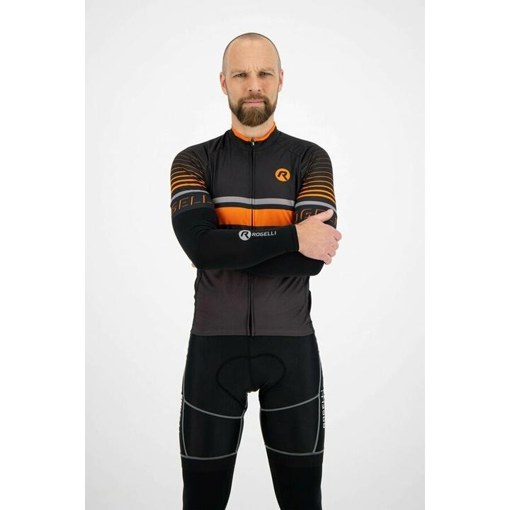 Cyklistické rukávy Rogelli, černé 009.007