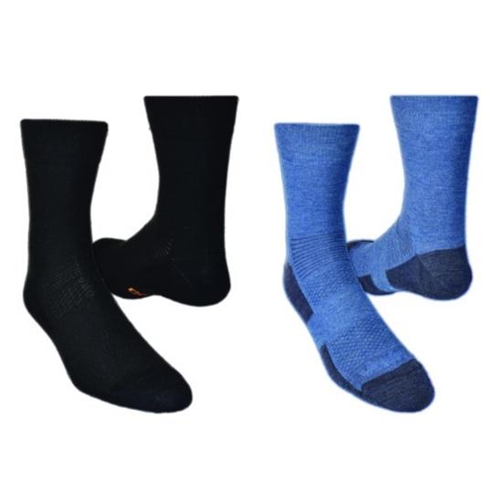 Ponožky LIGHTTREK CMX 2pack 28327-83 černá+modrá