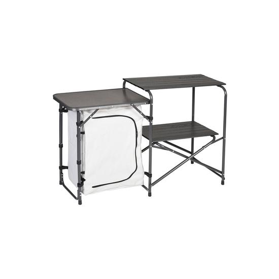 Skládací stole / Kuchyňka Husky Moky stříbrná