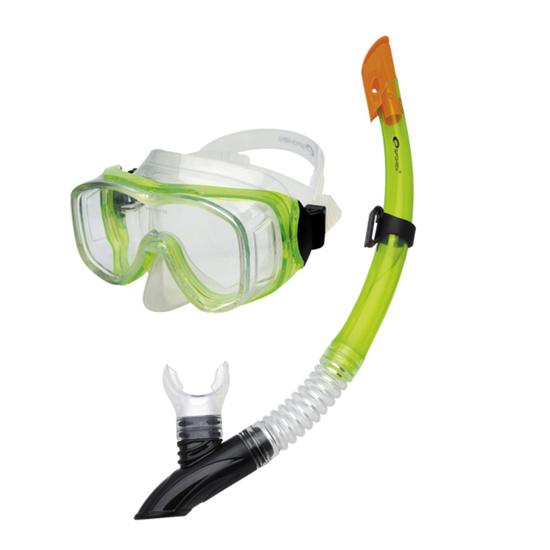 Potápěčská sada Spokey CEFEUSZ barva: zelená