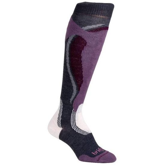 Ponožky Bridgedale Control Fit Midweight Women´s 871 gunmetal/plum