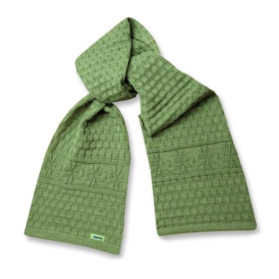 Pletená šála Kama S13 105 zelená