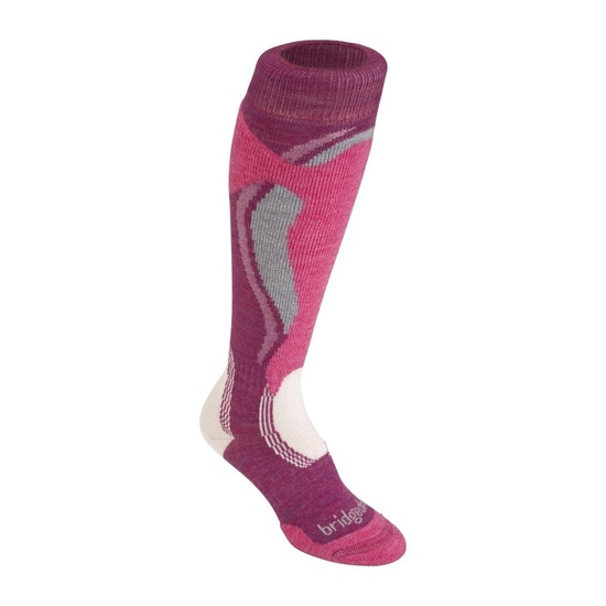 Ponožky Bridgedale Control Fit Midweight Women´s 315 berry/pink