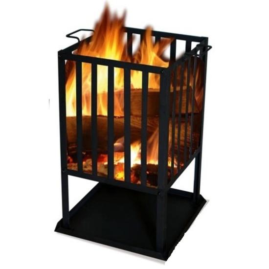 Čtvercové ohniště SOL koš 45x45 cm
