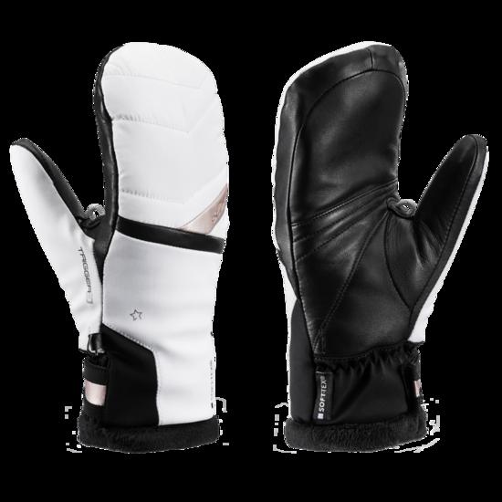 Lyžařské rukavice LEKI Snowfox 3D Lady Mitt white/gold