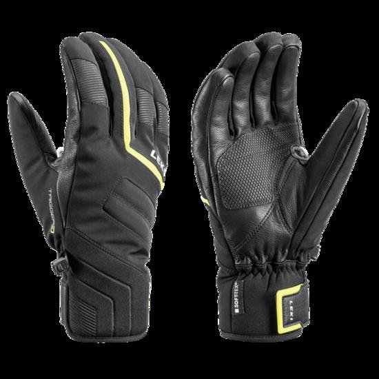 Lyžařské rukavice LEKI Falcon 3D black/lime