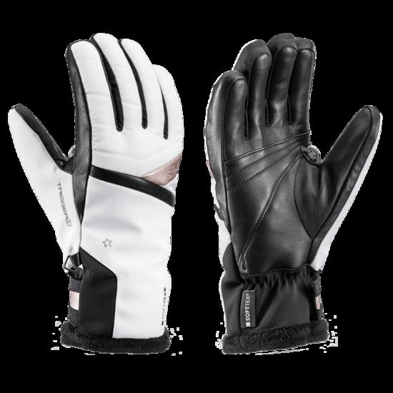 Lyžařské rukavice LEKI Snowfox 3D Lady white/gold