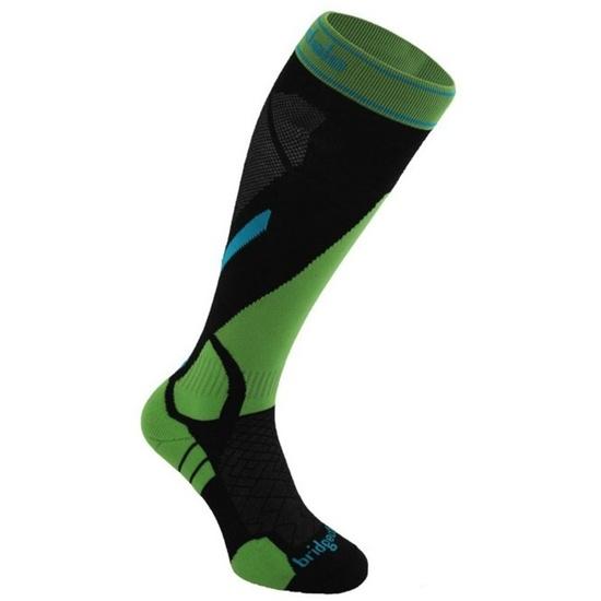Ponožky Bridgedale Vertige Light 843 black/green