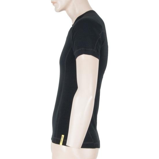Pánské triko Sensor MERINO DOUBLE FACE černé 15100019
