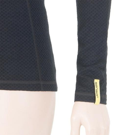 Dámské triko Sensor MERINO DOUBLE FACE černé 15100029