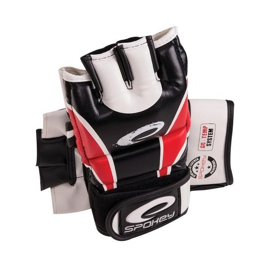 Kožené rukavice na MMA Spokey HIYO červené