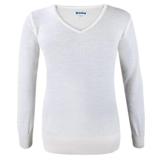 Dámský svetr Kama 5101 101 přírodně bílý