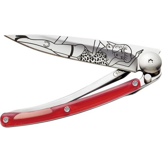 Nůž Deejo TATTOO Colors 27G. červený