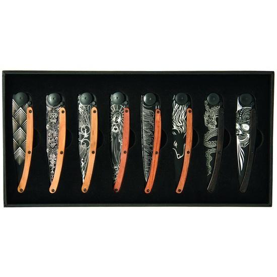 Deejo sada 8 nožů Black Tattoo 37G DEE036
