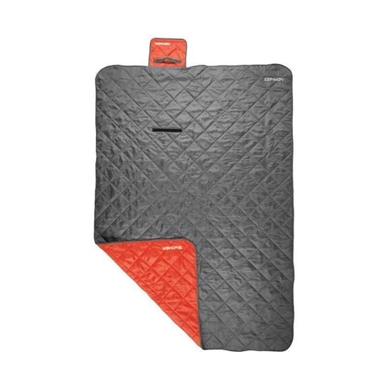 Spací pytel Spokey CANYON 200x140 cm, deka, šedo/červený