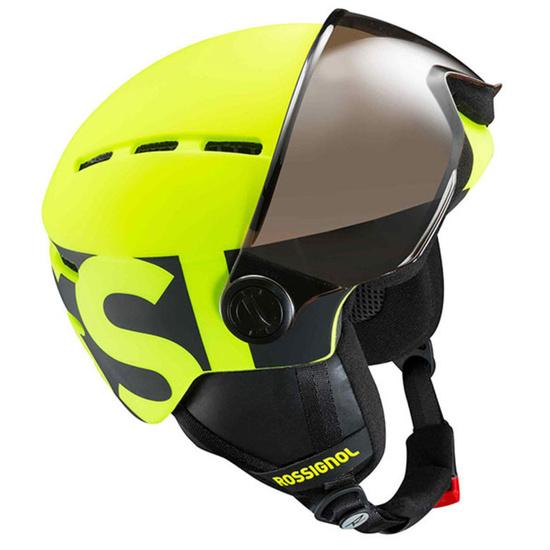 Lyžařská helma Rossignol Visor Jr-neon yellow/black RKGH500