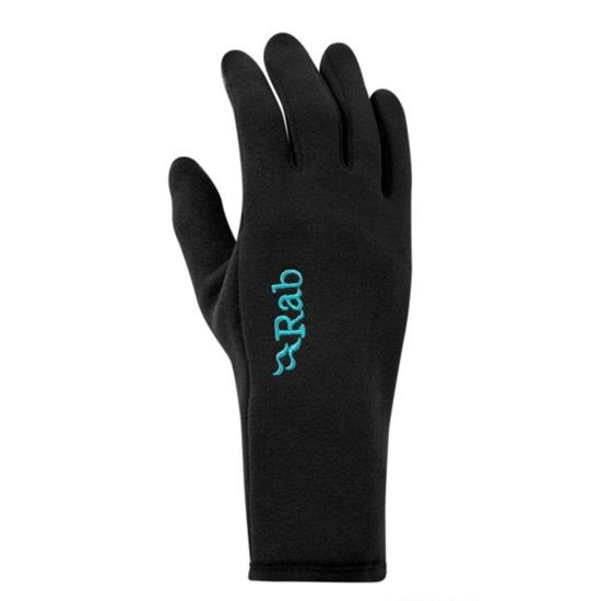 Rukavice Rab Power Stretch Contact Glove Women's black/BL