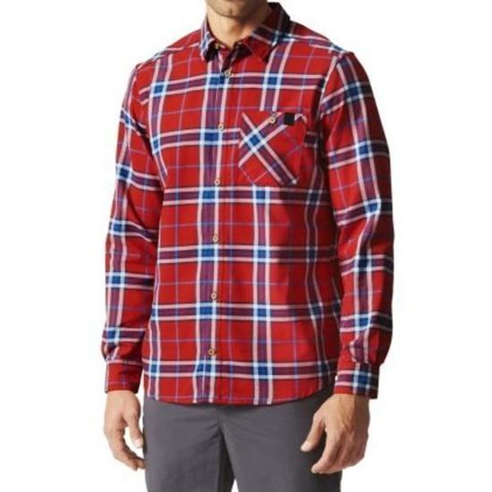 Košile adidas AO Men Checker Moss LS Shirt AI2208