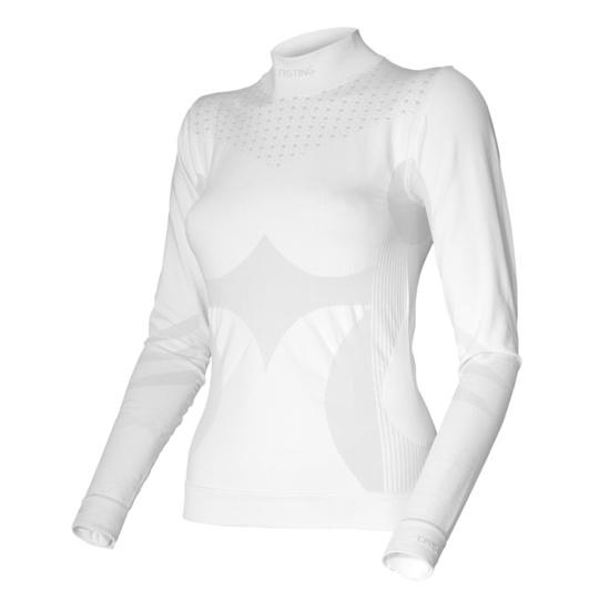 Dámské Triko Dl. Rukáv Lasting Angelina barva: bílá/šedá (0180)