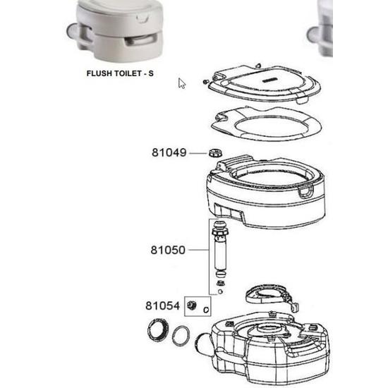 Náhradní uzávěr na pumpu pro toaletu Campingaz Portable Flush Small 81054