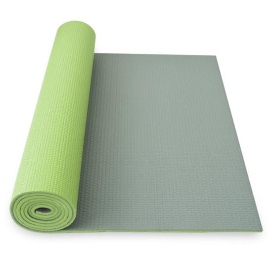 Podložka na jogu YATE yoga mat dvouvrstvá zelená/šedá