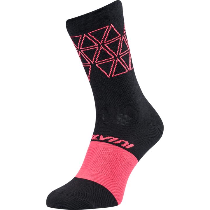 Cyklistické ponožky Silvini Bardiga UA1642 black/pink