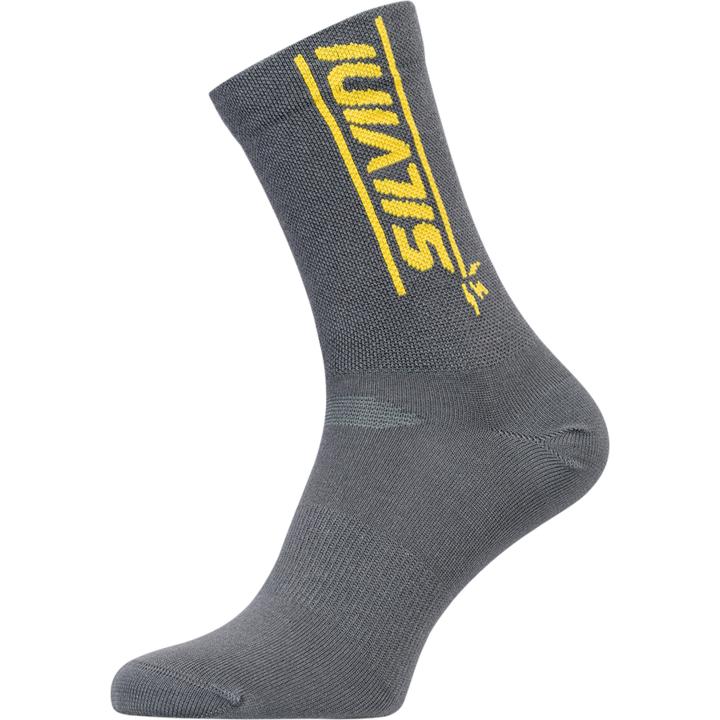 Cyklistické bikové ponožky Silvini Avella UA1815 charcoal/yellow