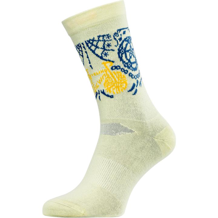 Cyklistické bikové ponožky Silvini Avella UA1815 yellow